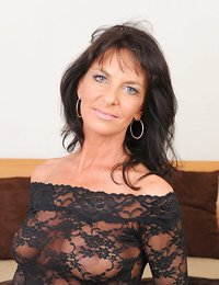 Horny cougar Sarah Bricks..